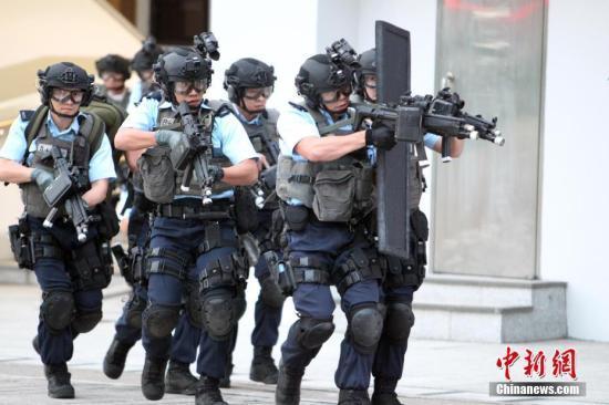 香港警方举行大规模反恐演习