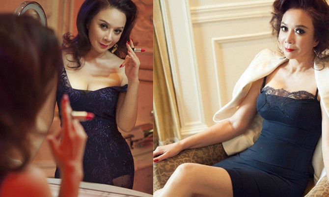55岁蔡明登上《男人装》穿蕾丝裙扭臀大秀事业线